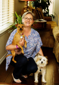 Lori and her two mutts