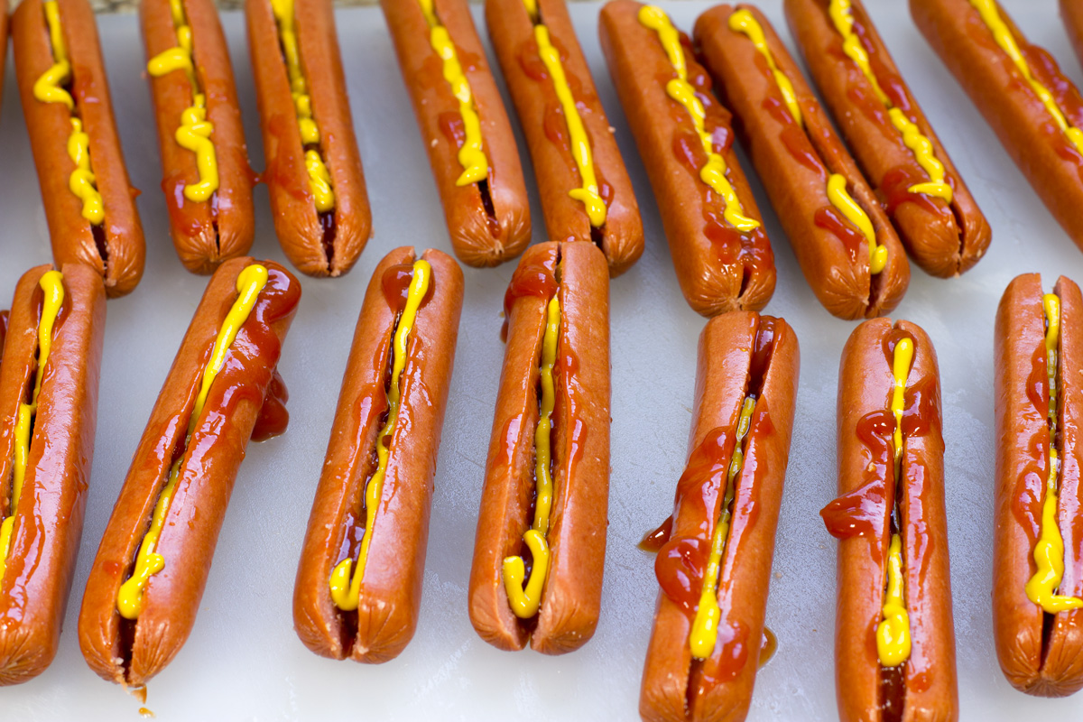 Hot Dogs Stuffed with Condiments