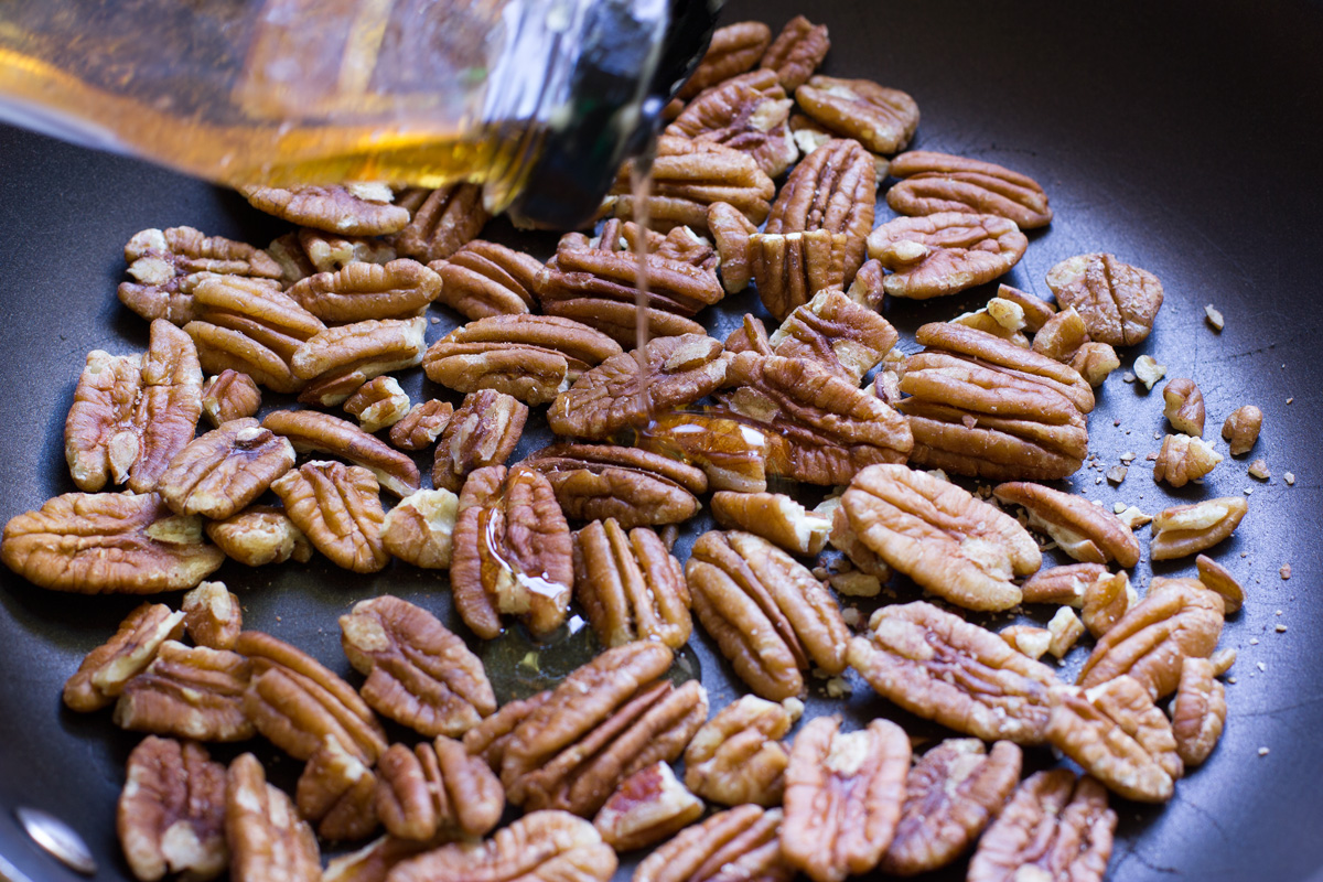 Getting ready to candy the pecans