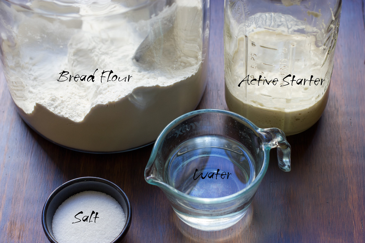 Sourdough bread ingredients