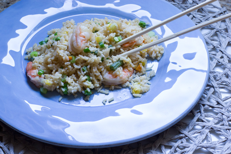 Fried rice final plate