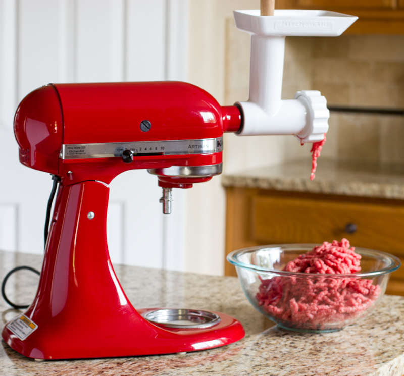 Double grinding the ground beef