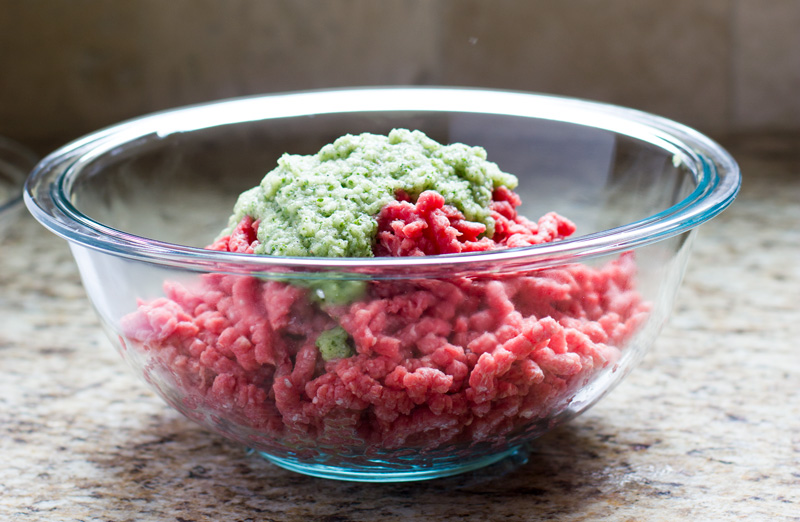 Add processed ingredients to meat