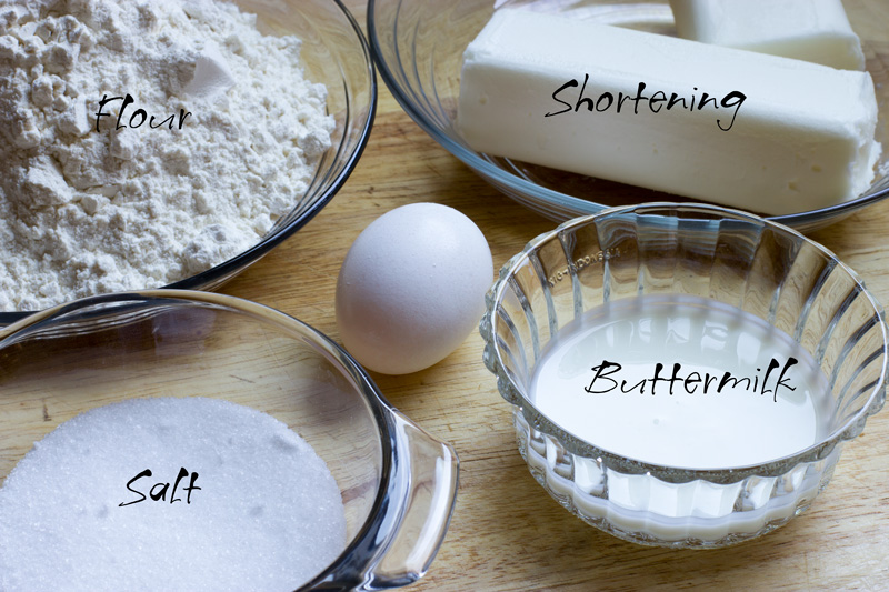 Ingredients for the crust recipe