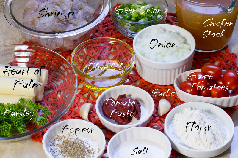 Ingredients for the filling