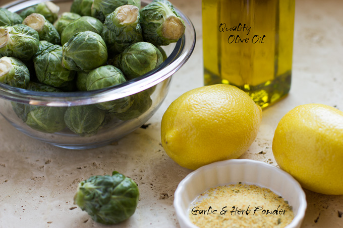 Ingredients for Brussels sprouts