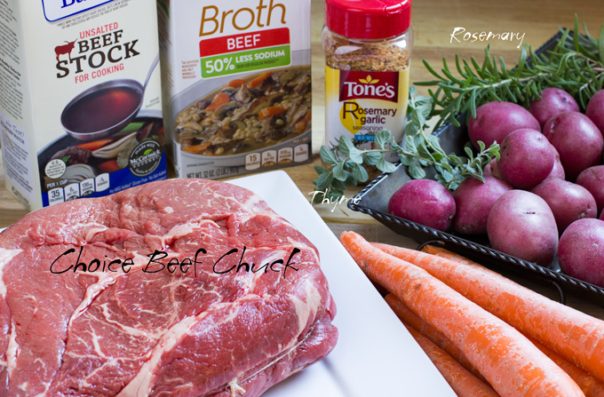Ingredients for the pot roast