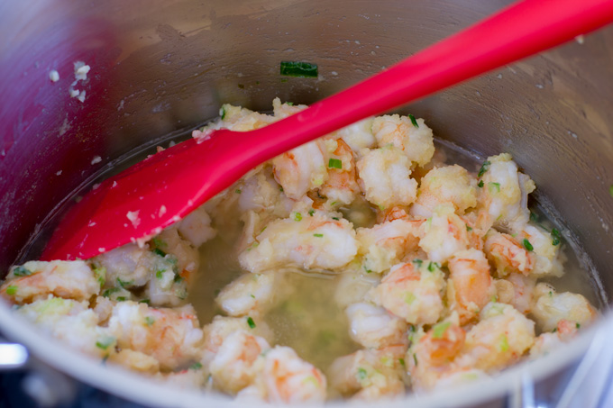 Add the chicken broth to the roux mixture