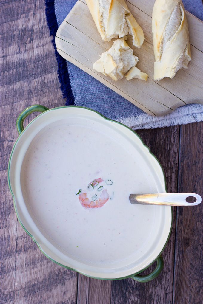 Bisque on a table in a tureen