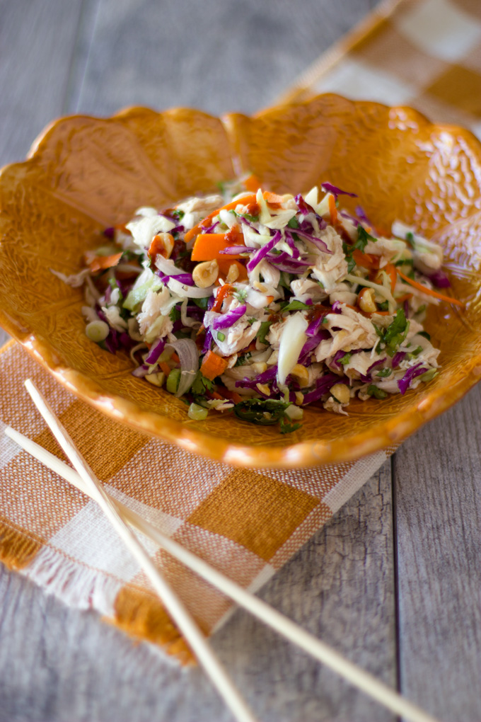 Feature image of salad on a plate with chopsticks