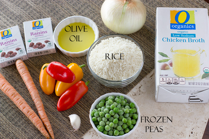 Ingredients for Greek Rice