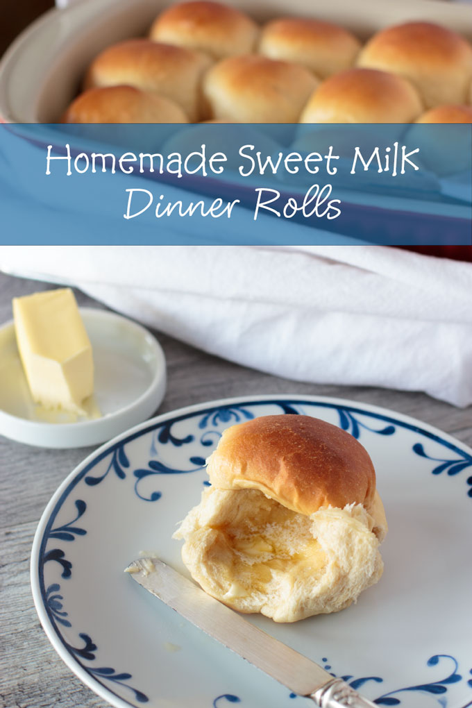 Sweet milk dinner roll feature image