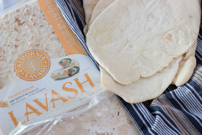 Bread for flatbread pizza, homemade and ready-made lavash