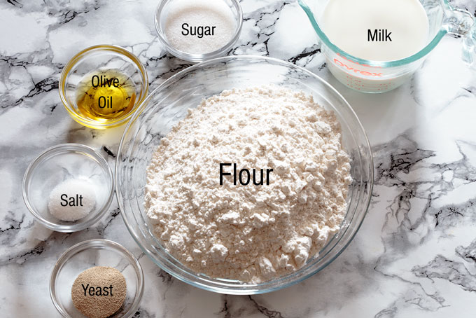 Ingredients for the esfirra dough