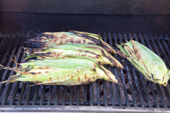 Grilling the cobs