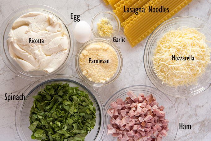 Filling ingredients for the lasagna