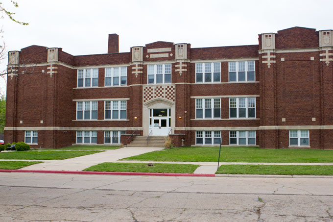 Steve's elementary school, now converted into apartments