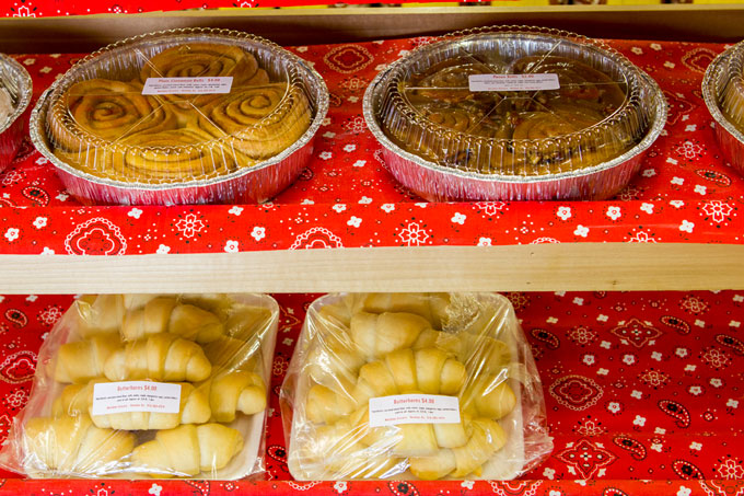 Handmade pastries at Meridian Grocery, Steve's home town