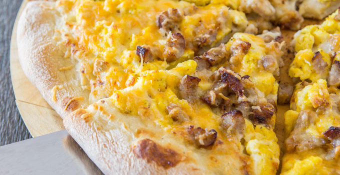 Sausage Breakfast Pizza with Country Gravy