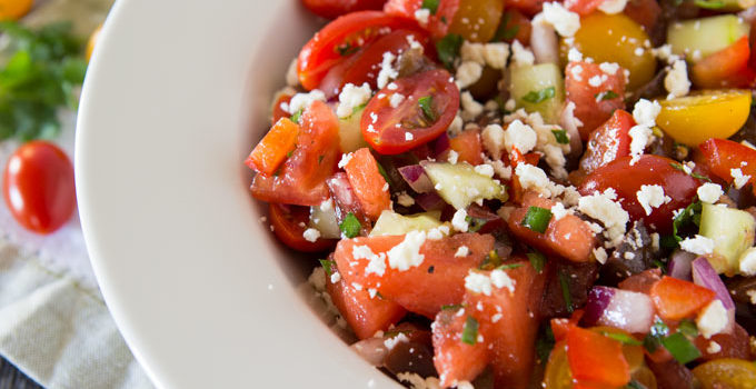 Tomato Watermelon Feta Salad