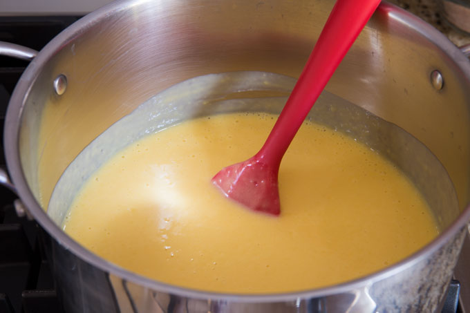 Pudding mixture before cooking