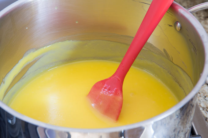 Cooked pudding mixture