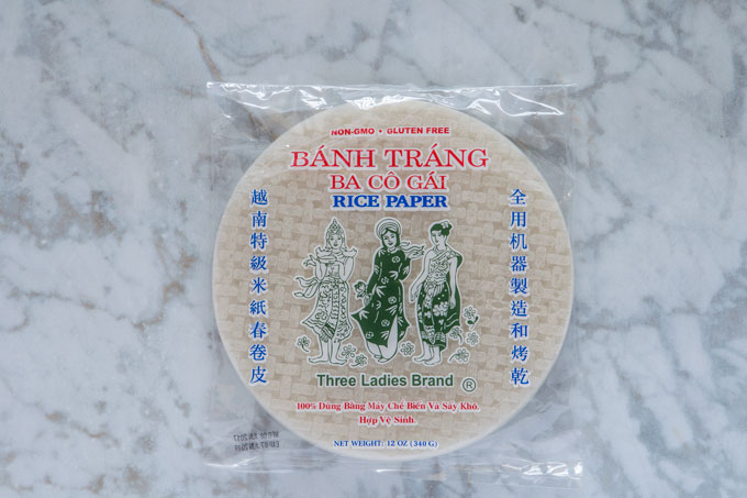 Bag of rice paper wraps