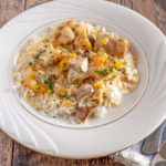 Apricot Chicken with Mushroom Cream Sauce