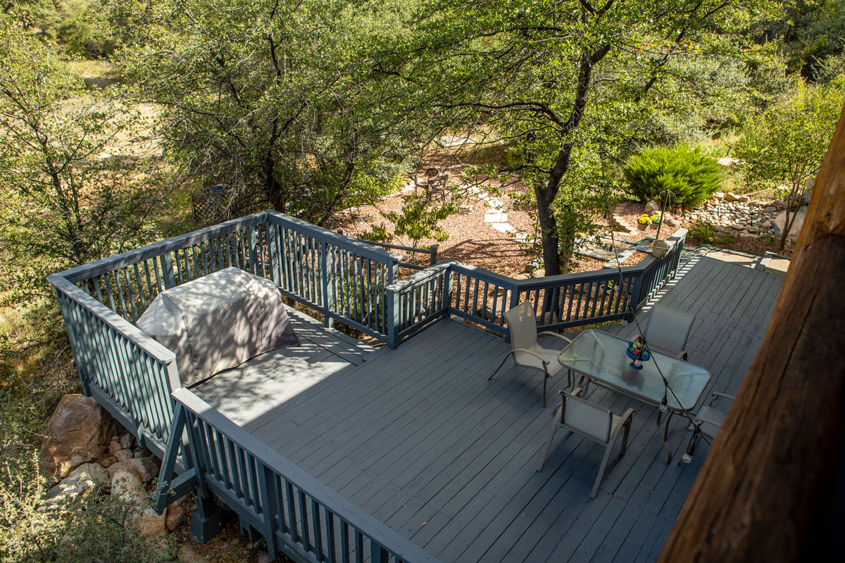Watson Lake Inn terraced deck
