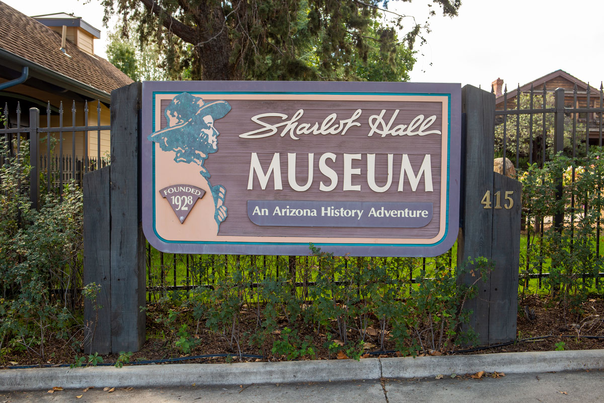 Sharlot Hall Museum sign