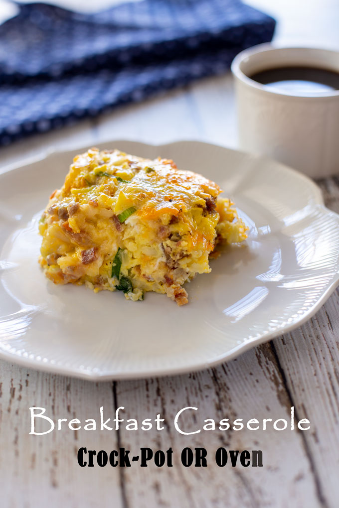 Breakfast casserole closing image with banner label