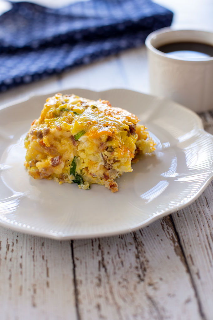 Intro image of breakfast casserole served on a plate