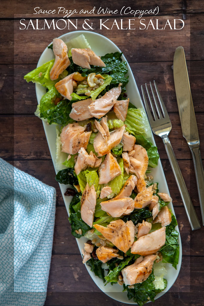 Sauce Pizza and Wine (copycat) salmon and kale salad banner page