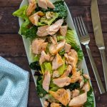 Feature image of Sauce Pizza and Wine (copycat) salmon and kale salad